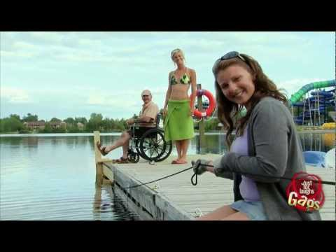 Disabled Man Falls In Water Prank