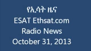 ESAT Ethsat.com Radio News October 31 2013 Ethiopia