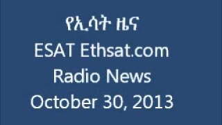 ESAT Ethsat.com Radio News October 30 2013 Ethiopia